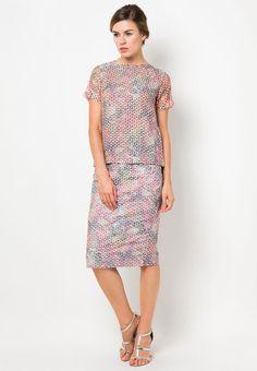 Anynome Watercolour Pencil Skirt I Beli di ZALORA Indonesia ®