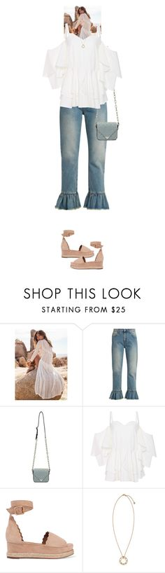 """""""Evonne #8056"""" by canlui ❤ liked on Polyvore featuring MSGM, Alexander Wang, Chloé, Versace, ruffle, ruffles and ruffledtops"""