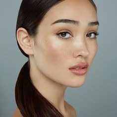 Peachy spring makeup look - try Vapour Aura Multi-Use in 217 Charm on cheeks and eyes