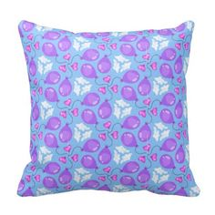 Hearts In the Clouds Pattern Pillow