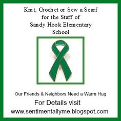 CAN YOU HELP NEWTOWN By making scarves for the 80 staff members at Sandy Hook Elementary..?Please share . . . . . SentimentallyMe