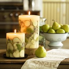 Candle fruits