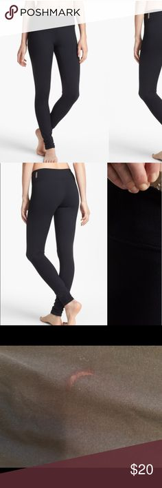 Zella Live in Leggings From Nordstrom. There's a crescent shaped red nail polish stain on the right thigh (pictured), offers are welcome:) Zella Pants Leggings