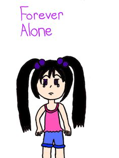 Forever Alone Drawing - Sonic45 © 2013 - May 5, 2013
