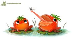 Daily Paint #1217. Tomatoads by Cryptid-Creations     Time-lapse, high-res and WIP sketches of my art available on Patreon (:Twitter • Facebook • Instagram • DeviantART