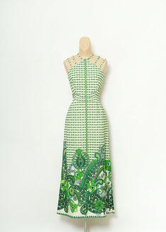 Vintage 60s Dress / 70s Maxi Dress / Dress 60s clothing long dress / Dresses / Tropical dress / Psychedelic Dress / 1960s Mod Dress / 60s