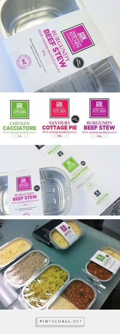 Slow food for fast lives Grand Central Kitchen Packaging for Millennials by Brand Wagon. frozen meals full of ingredients that can be found at your local supermarket and not a science lab. PD