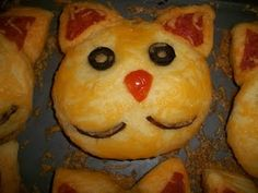 Cat Pizza Biscuits!  Purrfect!