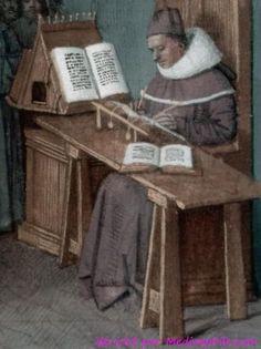 obj 00074028,T: Frankreich, Des cas des nobles hommes et femmes, 1458, Handschrift, München, Bayerische Staatsbibliothek. Fouquet, Jean, Buchausstattung. Boccaccio und Petrarca, Miniatur (halbseitig). Mediaephile.com