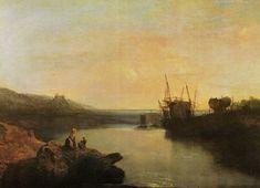Turner, Joseph Mallord William: Harlech Castle, aus Twgwyn Ferry, in der Dämmerung eines Sommerabends (Harlech Castle, from Twgwyn Ferry, Summer's Evening Twilight)