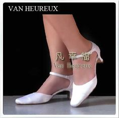 White Satin Ankle Strap Bridal Wedding Shoes With Closed Toe Mid Spool Heel Pumps
