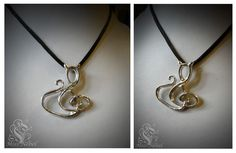 This sterling silver pendant is an special order I made for a costumer. As you can see is a treble clef and also a cat silhouette. If you like, please visit my page on Fb (https://www.facebook.com/pages/Miss-Nebel) or my web (https://www.missnebel.com) Thanks!!
