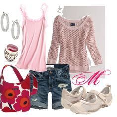 Everything but the shoes for me. Spring Pink, created by melcata on Polyvore