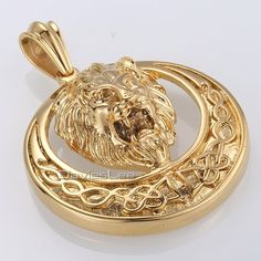 Buy Davieslee Men's Jewelry Lion Head Knot Gold/Silver Stainless Steel Pendant Necklace Chain at Wish - Shopping Made Fun Lion Necklace, Pendant Necklace, Necklace Chain, Chain Jewelry, Gold Chains For Men, Gold Jewelry, Fashion Accessories, Bling, Jewels