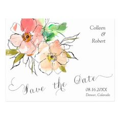 Floral Impressions Photo Save the Date Wedding Postcard - spring gifts beautiful diy spring time new year