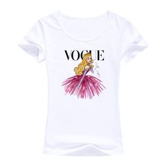 vogue model design style woman tops tees women T shirt Tattoo princess clothes fashion brand Short sleeves cotton female t-shirt