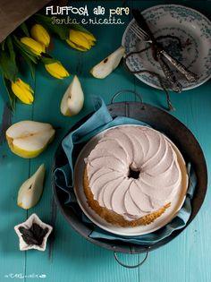 Fluffosa alle pere, Tonka e ricotta _ Fluffy chiffon cake with pears , Tonka and ricotta