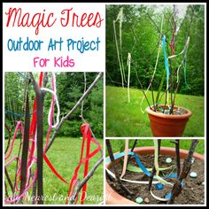 Magic Trees, Outdoor Reggio Inspired Art Project for Kids