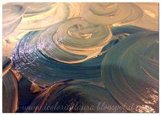 Tutorial: un cielo da fiaba con acrilici e bottoni - I colori di Laura Arts And Crafts, Tutorial, Painting, Home Decor, Sky, Gowns, Decoration Home, Room Decor, Painting Art