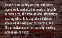 What joint working are councils doing to help their tenants with impacts of welfare reform?
