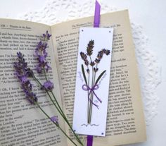 Lavender Bookmarks Lavender Bouquets on por PatsysPressedFlowers