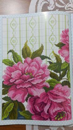 Vazolu çiçek 4 Tablecloths, Projects To Try, Cross Stitch, Weather, Needlepoint, Flowers, Cross Stitch Pictures, Vases, Bouquets