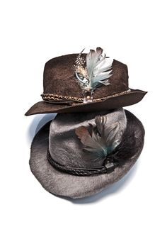 Apparel #Accessories for him. feathered hats.