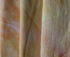 Cotton, scrim and silk hand dyed in 3 yellows and orange. £10.00, via Etsy.