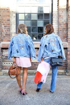 Tash and Elle wearing my #customized #denim jackets <3 #internodiciotto…
