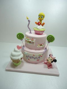First birthday party with Minnie and Tweety!