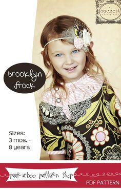 Brooklyn Frock: FREE pattern for sizes 3 mos. - 8 years by Naptime Crafters!