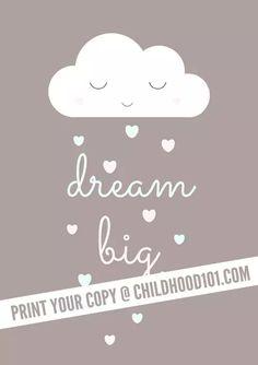 Dream Big Printable Poster