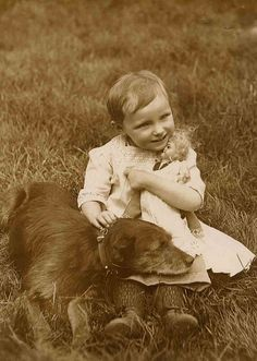 just a child and their dog.  LOVE. LOVE. LOVE.