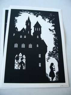 A4 Snow White Silhouette Print 83 x 117 by LBARRETTillustration, £10.00