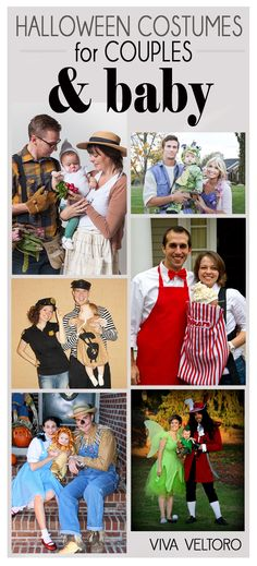 Family Halloween costume ideas for couples and a baby! So cute!