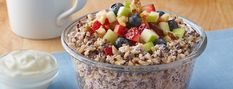 Minute - Breakfast Cup with Quinoa - We can help. Minute Rice Recipes, Breakfast Cups, Quinoa, Acai Bowl, Oatmeal, Low Carb, Canning, Food, Acai Berry Bowl