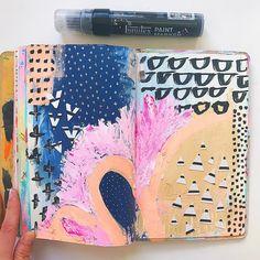 Drawing On Creativity - Drawing On Demand Art Journal Pages, Art Journals, Visual Journals, Journal Ideas, Dungeons E Dragons, Liquitex Paint Marker, Tattoo Painting, Moleskine, Fantasy Magic