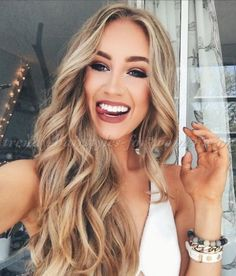 Sexy Long Wavy Middle Part Lace Front Human Hair Wigs 24 Inches- wavy hairstyles blonde wavy hairstyles ponytail Frontal Hairstyles, Wig Hairstyles, Curly Hairstyles For Long Hair, Woman Hairstyles, Casual Hairstyles, Funky Hairstyles, Medium Hairstyles, Latest Hairstyles, Wedding Hairstyles
