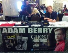 Adam-Berry-Ghost-Hunters at the Para History Convention at Fort William Henry Hotel.
