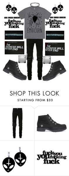 """""""I feel like sh^t"""" by marina-hxpe ❤ liked on Polyvore featuring AMIRI, Timberland and ELSE"""