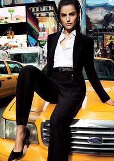 """Liza Golden in """"Midtown Monotones"""" Photographed By Simon Cave & Styled By Morgan Pilcher For Vogue Thailand, March 2013"""