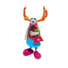 Reindeer sculpture design reindeer made with polymer by MIRAKRIS, $57.00