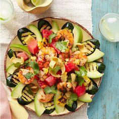 Shrimp Taco Salad Recipe on Delish.com  -  For the complete recipe, simply click on the photo.  ENJOY!