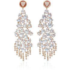 Hueb Trillian 18K Gold Diamond and Aquamarine Earrings ($10,510) ❤ liked on Polyvore featuring jewelry, earrings, blue, 18k gold earrings, yellow gold earrings, yellow gold diamond earrings, aquamarine earrings and blue earrings