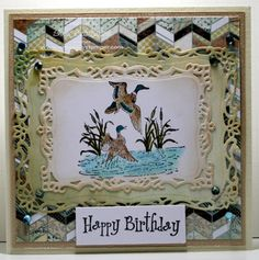 Sue has a lovely birthday card up on the blog today using Water's Edge from Heartfelt Creations.  More details are on the blog.