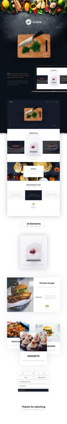 Gratia is one exceptional and simplistic template which is a great choice for designer who neeed to develop a perfect restaurant website. The psd itself is well layered and organized for easy editing with Photoshop. 4 PSD files are included with this temp…