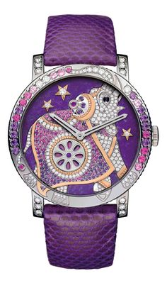 Boucheron Crazy Jungle Hathi Violette watch. | The Jewellery Editor