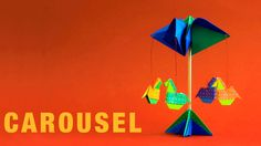 Origami tutorial and video instruction on how to make an Origami Carrousel. Assemblage idea of Leyla Torres. SUBTÍTULOS EN ESPAÑOL With models by David Donah...