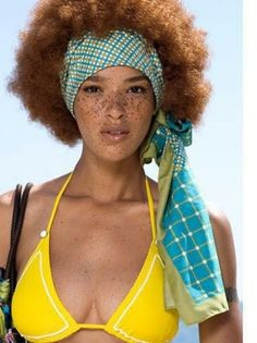 auburn fro and freckles = natural beauty love the scarf too! Luv the freckles. Curly Hair Styles, Natural Hair Styles, Natural Beauty, Beautiful Freckles, Stunning Redhead, Redheads Freckles, Girls Natural Hairstyles, Afro Textured Hair, Blonde Hair Girl