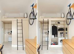 Schon Studio Apartment Design, Studio Apartments, Small Apartments, Micro  Apartment, Loft Spaces, Tiny Spaces, Loft Studio, Loft Conversions, Loft  Design